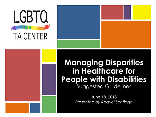 Title Slide for Managing Disparities Webinar